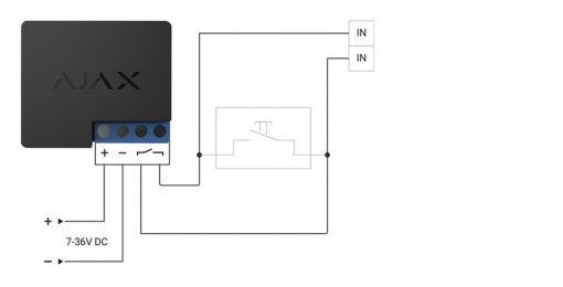 AJAX Relay draadloos inbouw relais – Potentiaalvrij contact