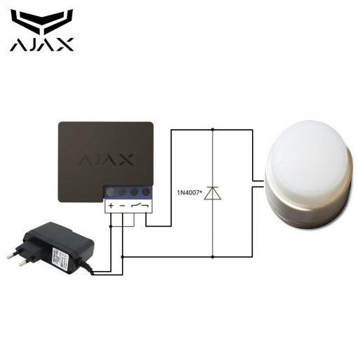 AJAX Flitslamp relay combi