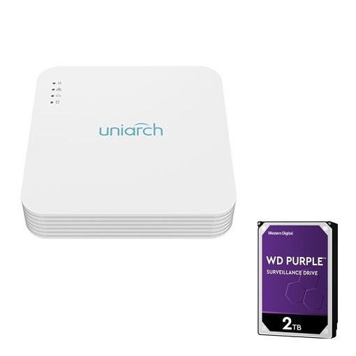 UNV Uniarch NVR 4 kanaals Network Video Recorder, creëer je eigen set!