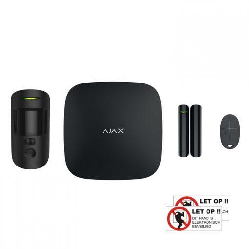 AJAX Starter Kit 2 met PirCam (zwart)